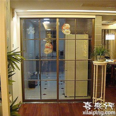 厨房阳台推拉门拼格门钛镁铝合金隔断门玻璃移门sbl